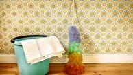 تمیز کردن کاغذ دیواری با ترفندهای خانگی