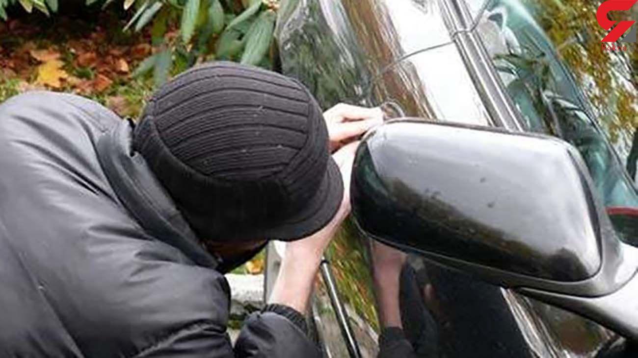 سارق حرفهای داخل خودرو در نهاوند دستگیر شد