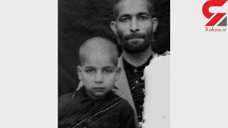 تصویری از کودکی حسن روحانی در کنار پدرش