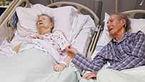 وداع عاشقانه پس از 70 سال زندگی + تصاویر