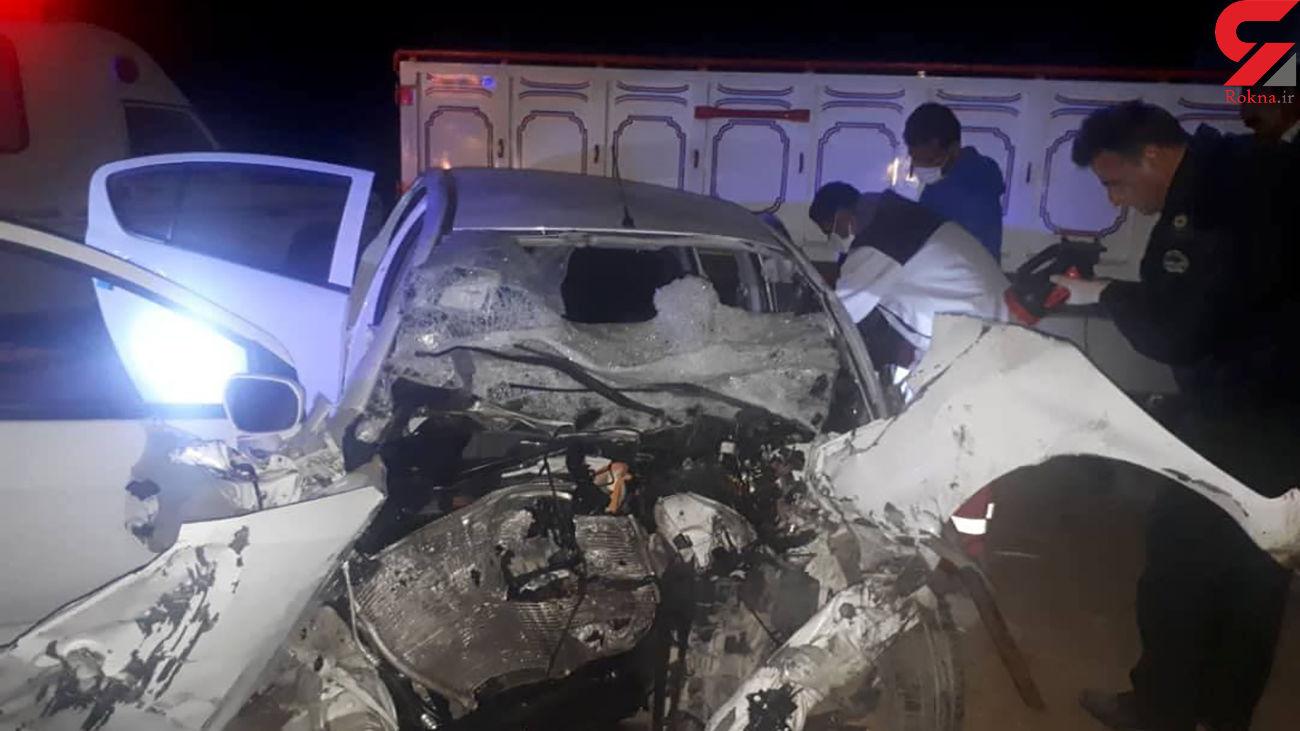 5 کشته در 2 ماشین له شده / در بیرانشهر رخ داد + عکس های تصادف