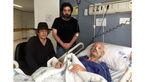 جمشید مشایخی و پسرانش سام و نادر در بیمارستان+عکس