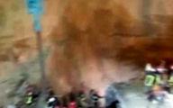 جزئیات حادثه ریزش تونل مترو در قم +فیلم وعکس