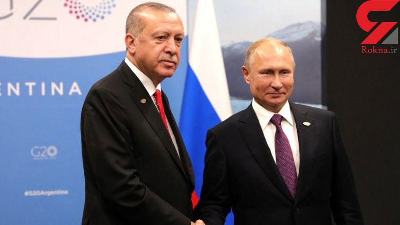 پوتین در دیدار با اردوغان از اوضاع ادلب ابراز نگرانی کرد
