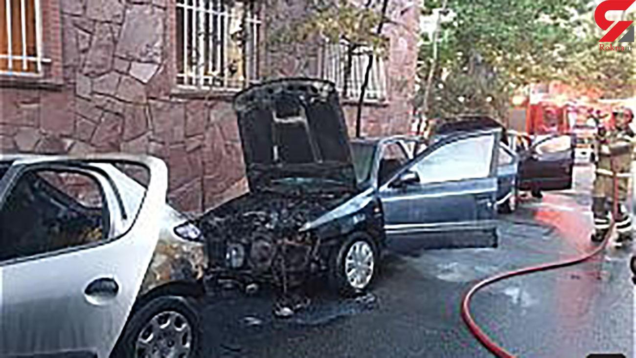 ماشین 4 تهرانی در دیباجی جزغاله شد / صبح امروز + عکس ها
