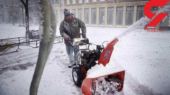 بارش برف در سومین فصل از بهار در آمریکا + تصاویر