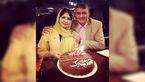 حمید ماهی صفت در جشن تولد 32 سالگی دخترش سارا +عکس
