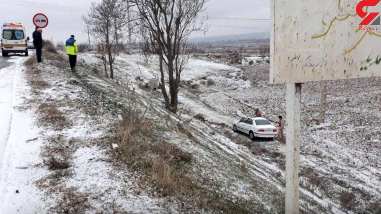 عکس صحنه مرگ در برف خدا آفرین / مردی یخ زد !
