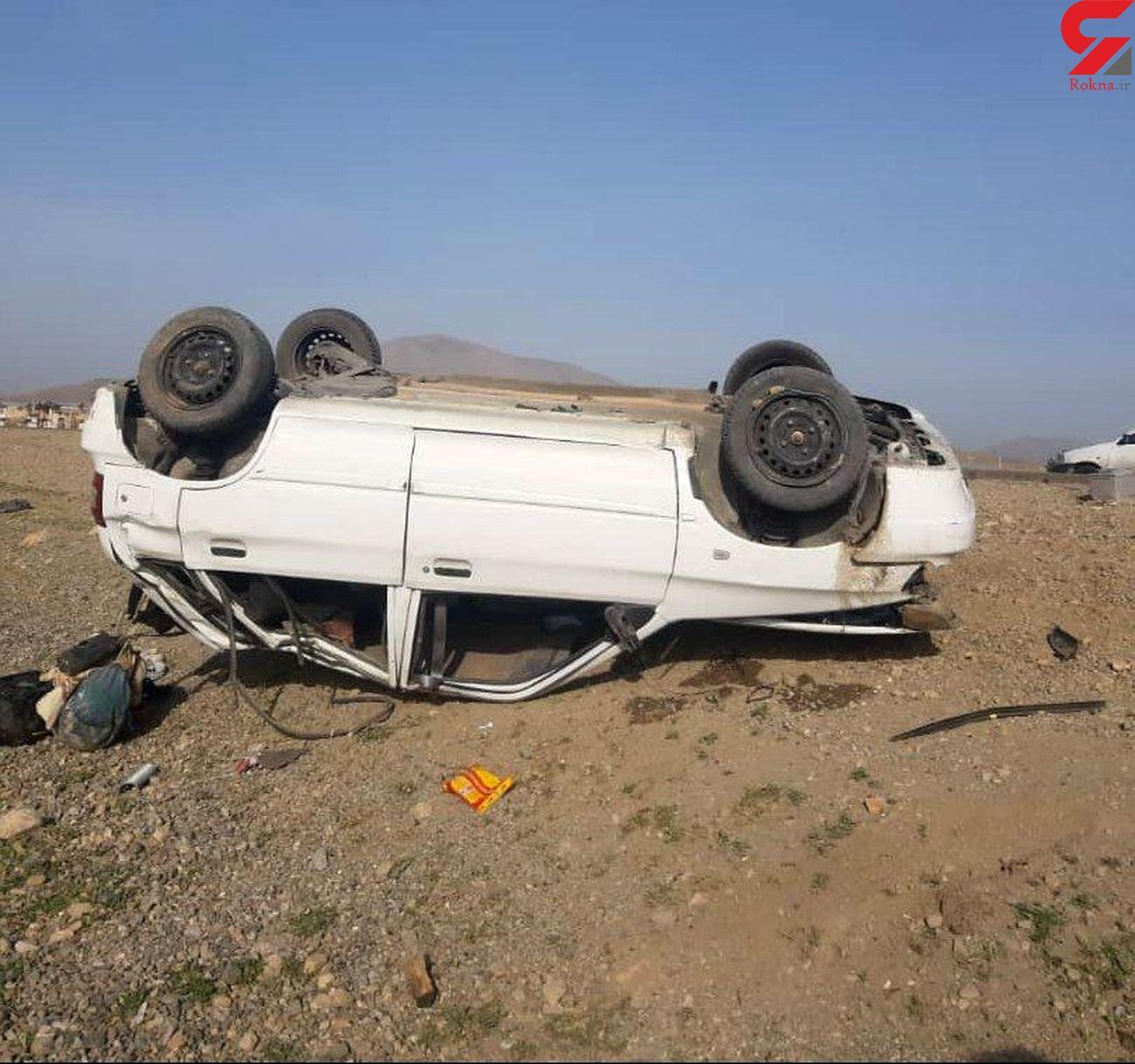 5 کشته و زخمی نتیجه بی توجهی یک راننده
