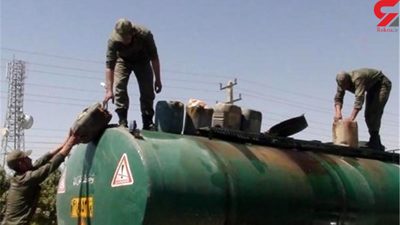 قاچاقچیان سوخت در دام پلیس سیستان