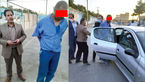 عکس لحظه دستگیری قاتل در مشهد / این جوان به دختر و پسر همسایه هم رحم نکرد