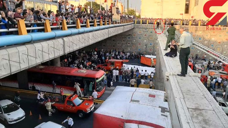 عکس لحظه خودکشی دختر تهرانی از روی پل در اتوبان امام علی +جزئیات