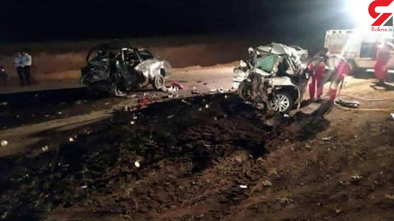 صحنه مرگ نوزاد 6 ماهه اردبیلی/ 5 جنازه در این خودروی له شده + عکس