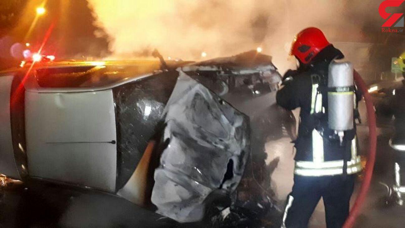 قاچاقچی سوخت زنده زنده در آتش سوخت + عکس