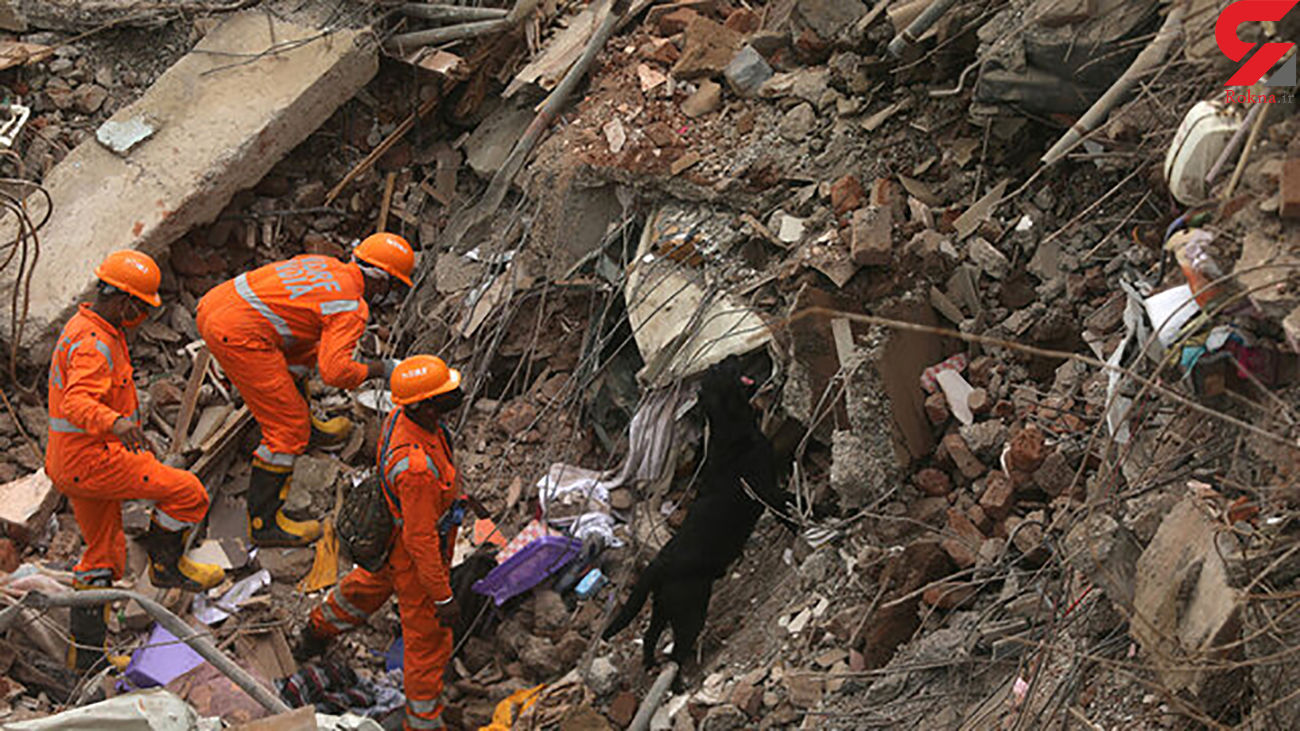 ۱۰ کشته در حادثه ریزش ساختمان در هند