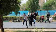 اولین تصاویر از حمله تروریستی به رژه نیروهای مسلح اهواز + فیلم