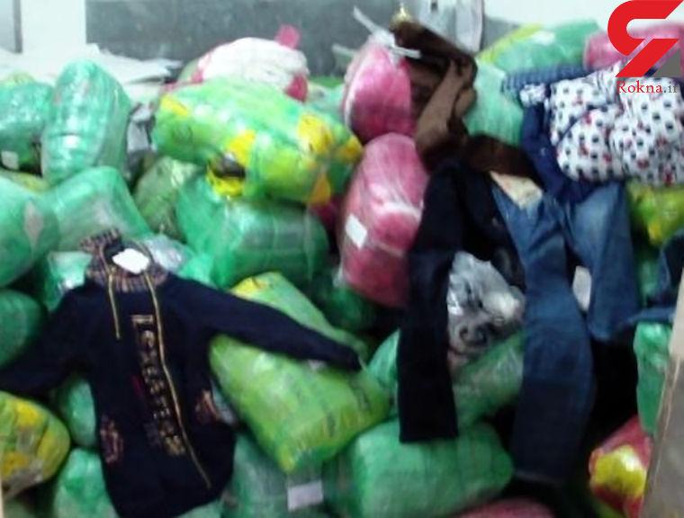 توقیف پژو پارس حامل پوشاک قاچاق در سپیدان