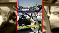 عکس/ ترور مسلحانه راننده پژو پارس در بندرماهشهر / دقایقی پیش اتفاق افتاد