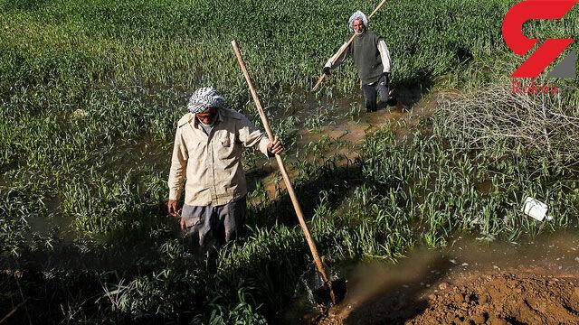 اراضی سیل دیده خوزستان هنوز زیر آب ماندهاند