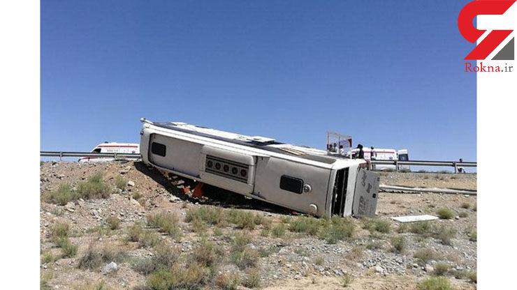 واژگونی اتوبوس در فارس 7 کشته و مصدوم برجای گذاشت +عکس