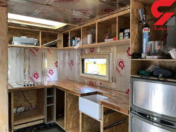 ساخت خانه ای عجیب در یک کامیون قدیمی+تصاویر