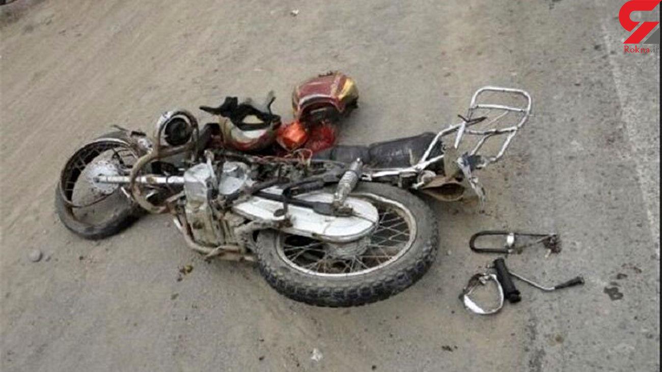 مرگ موتورسوار خوزستانی در تصادف با پژو