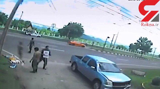 فیلم جدا شدن روح از بدن یک زن در سانحه رانندگی + عکس