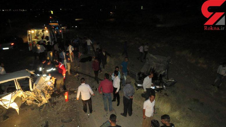 مرگ تلخ یک تن در تصادف 2 خودرو در نیشابور