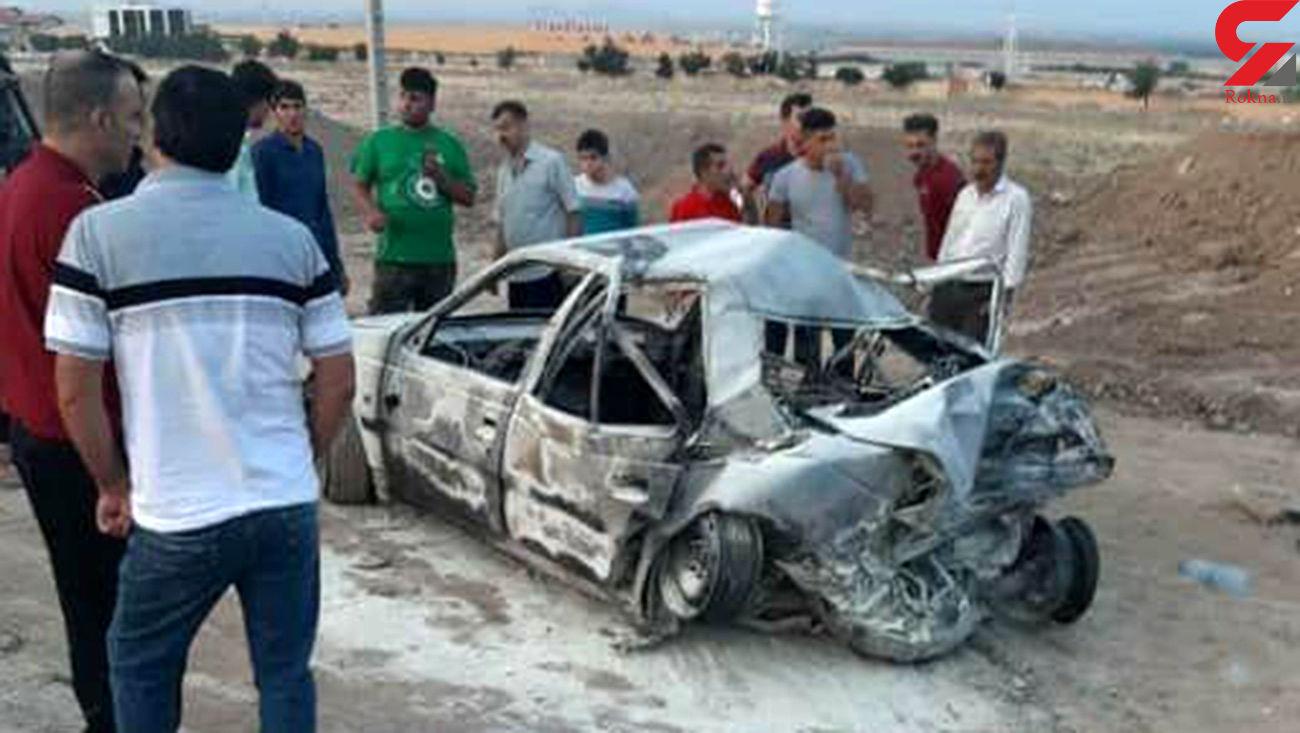 تصادف مرگبار صبح امروز در اتوبان کرج - قزوین / 25 کشته و مجروح + عکس