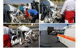 عکس تصادف در آزاد راه قزوین به کرج / 5 تن مجروح شدند