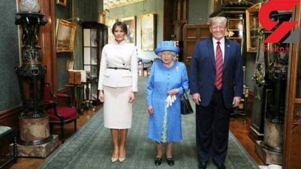 دیدار دونالد ترامپ با ملکه انگلیس