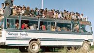 آتش گرفتن اتوبوس در برخورد با خطوط برق در هند/ حال 5 مسافر وخیم است