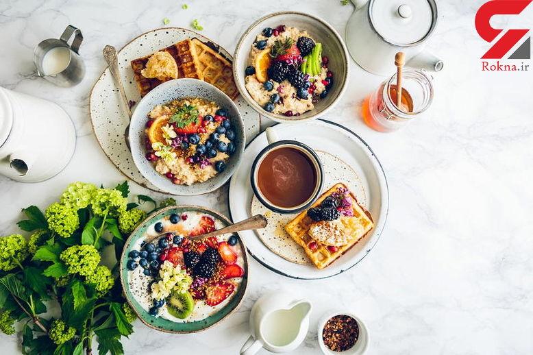 صبحانه ای غنی از خوراکی های مفید