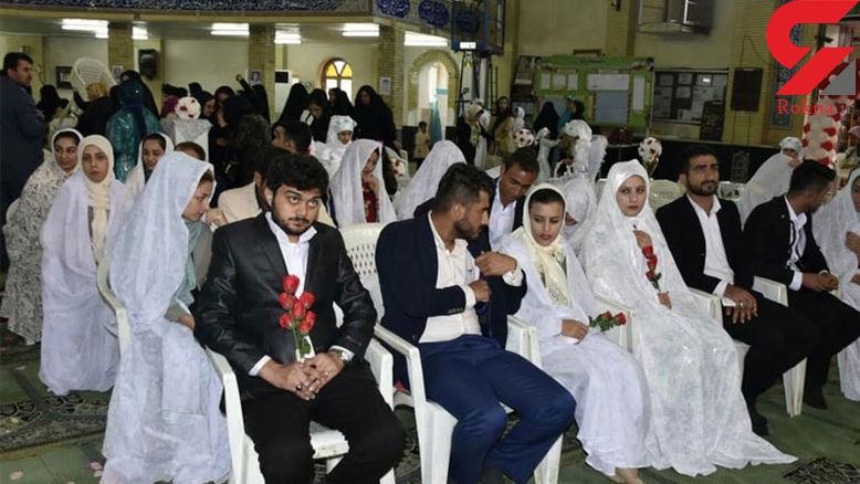 مراسم ازدواج ۱۱۰ زوج معلول در برج میلاد برگزار شد