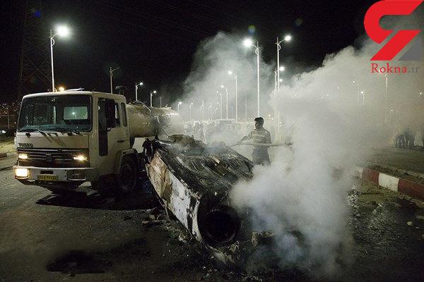 تصاویری دلخراش ازحادثه تصادف تانکر سوخت با اتوبوس در سنندج / 11 کشته و سه روز عزای عمومی در استان کردستان
