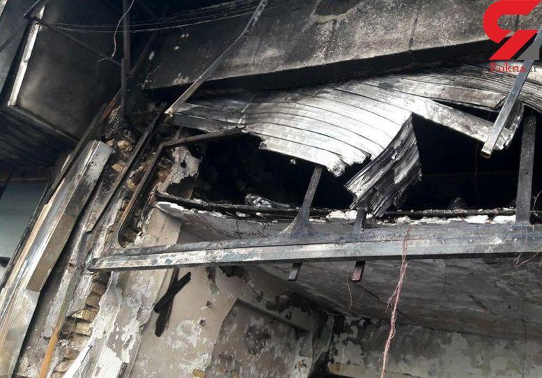 مصدومیت ۳ آتشنشان در آتشسوزی لباسفروشی در گرگان
