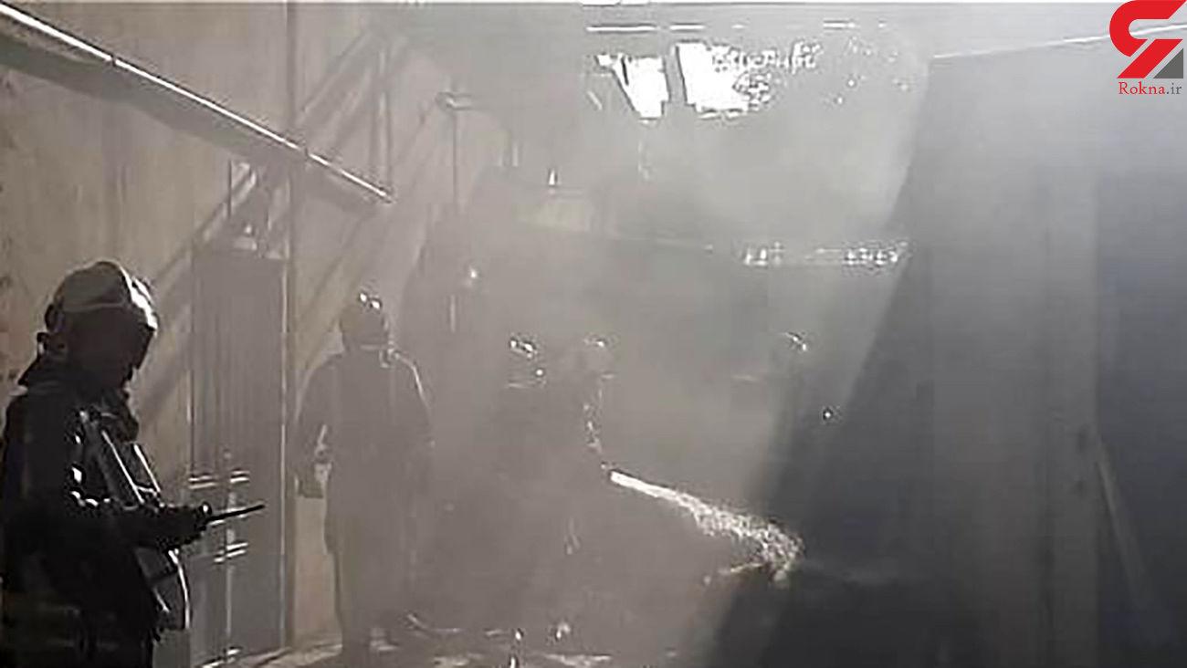 عکس های آتش سوزی انبار وسایل مستهلک بیمارستانی در شرق تهران