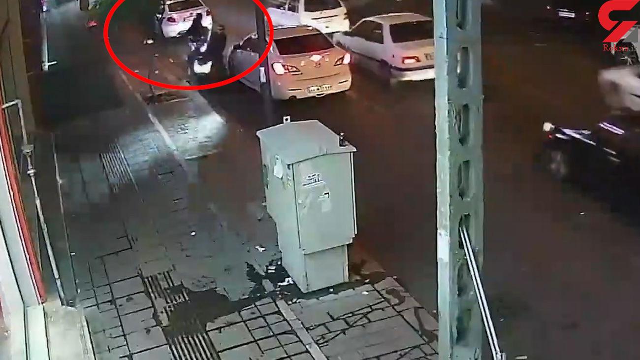فیلم لحظه عجیب ترین سرقت در ستارخان تهران