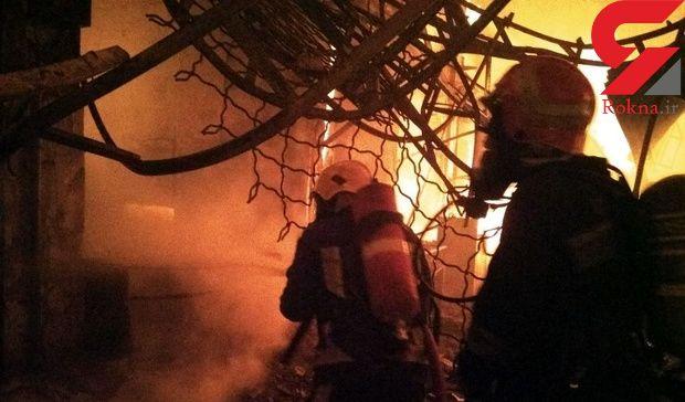بازار تاریخی تبریز در میان شعله های آتش + عکس