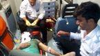 فیلم از صحنه نجات مرد موتورسوار در اتوبان چمران + عکس