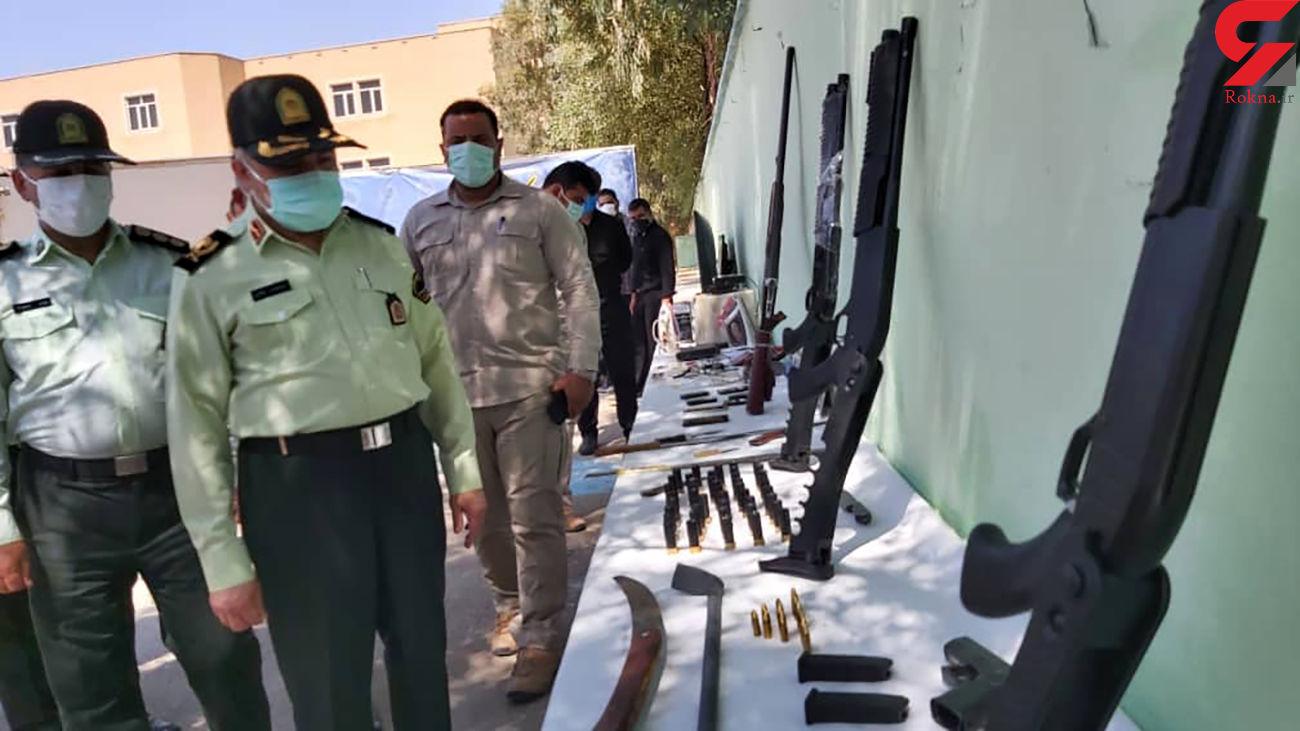 انهدام باند سارقان مسلح فرااستانی منازل در اهواز + عکس
