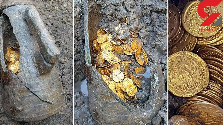 کشف صدها سکه قدیمی طلا در زیرزمین یک سالن تئاتر+عکس