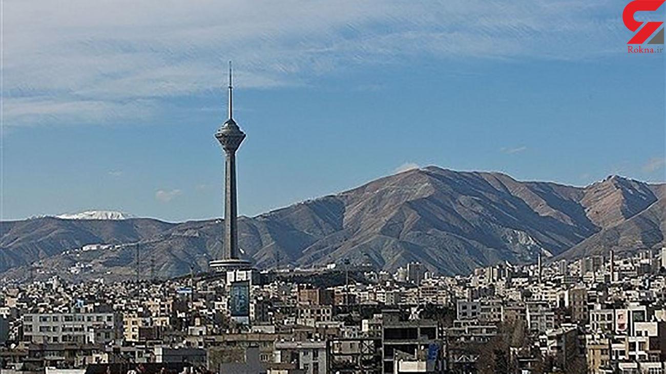 هوای تهران امروز 19 آبان 99 قابل قبول است