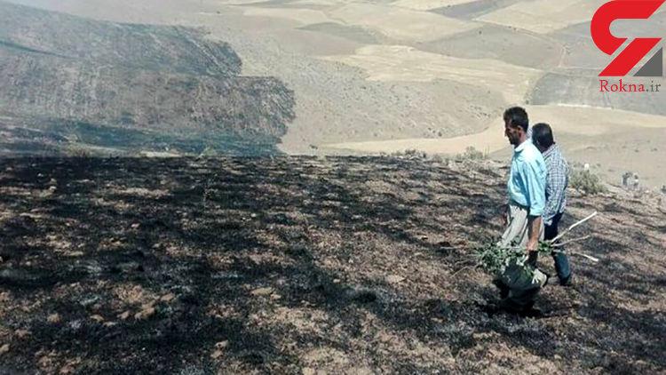 اطفای حریق در ارتفاعات پیراشکفت خان زنیان شیراز