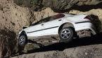 یک کشته در سقوط سمند به دره ایذه + عکس