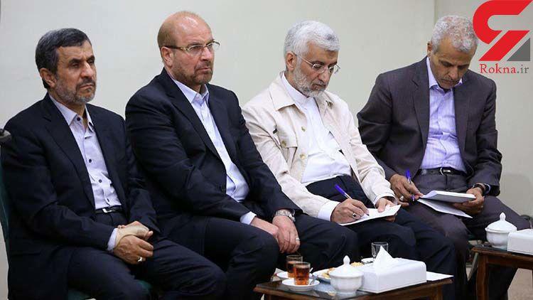 رویارویی انتخاباتی جلیلی و قالیباف در مقر اصلی جبهه پایداری