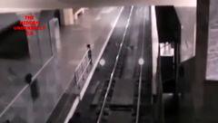 فیلمی واقعی از قطار اشباح در دوربین های ایستگاه راه آهن! + فیلم باورنکردنی