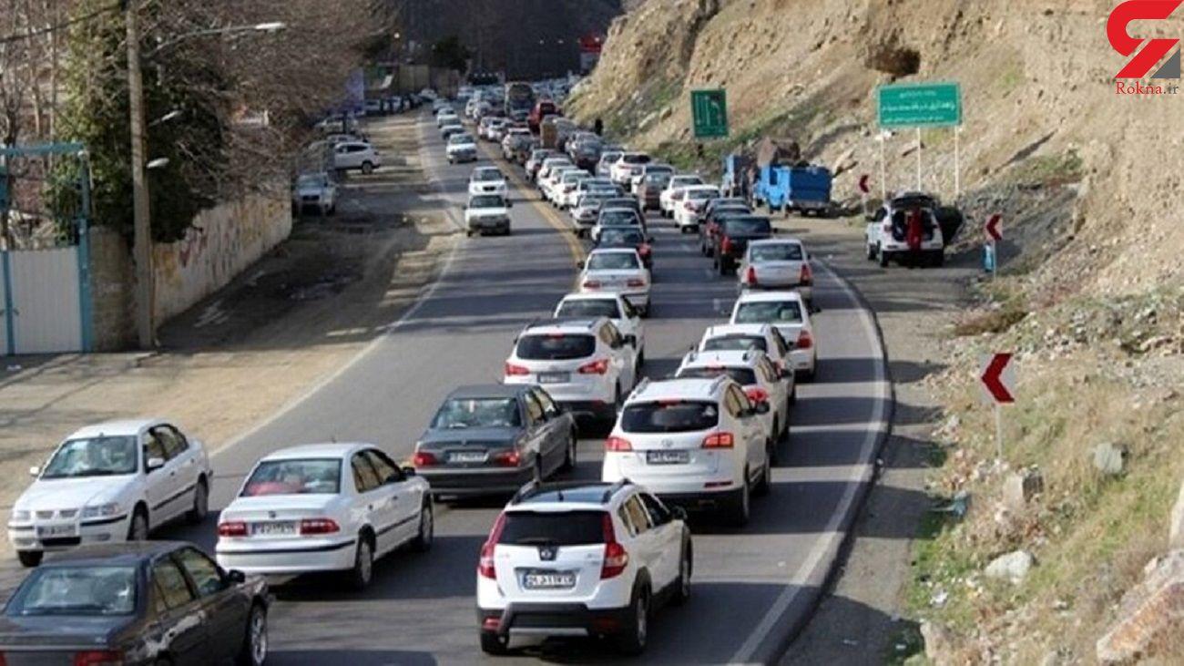 ترافیک نیمه سنگین در جاده چالوس / خروج ممنوع از تهران چه شد؟