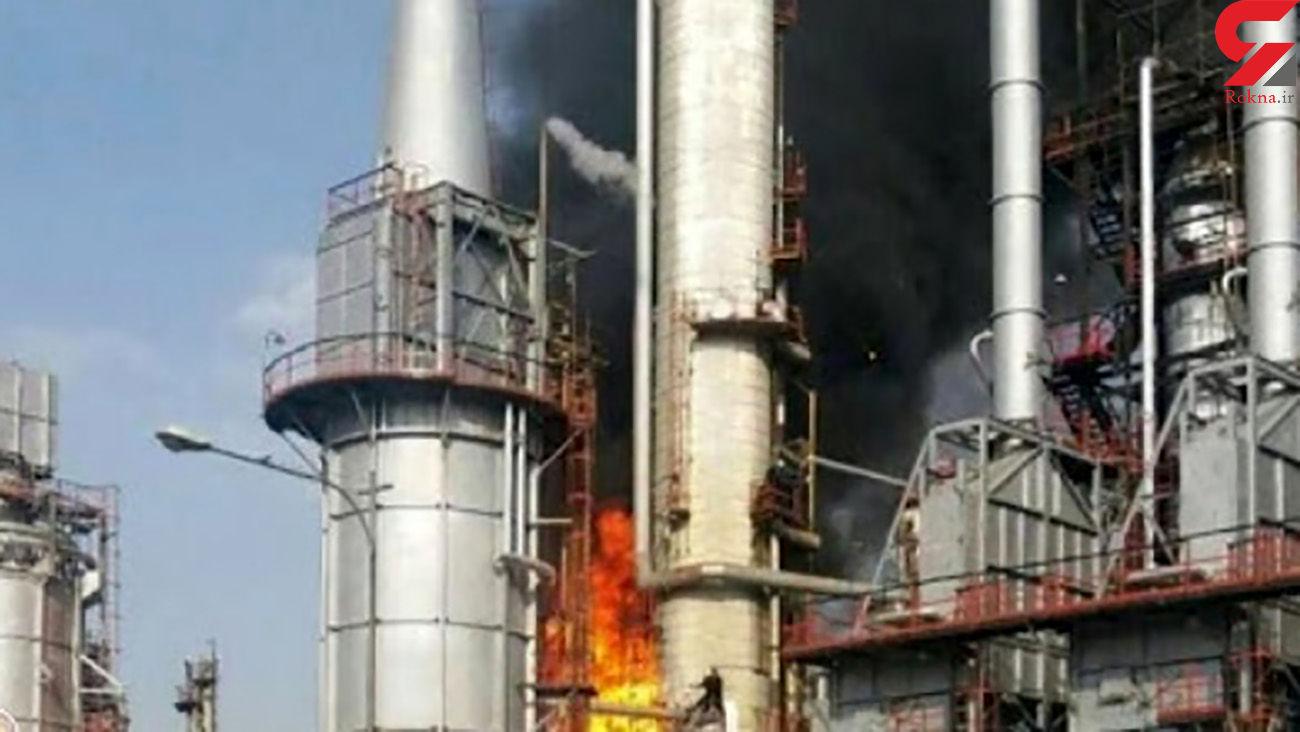 زنده زنده سوختن یک نفر در آتش سوزی پالایشگاه تهران + جزئیات
