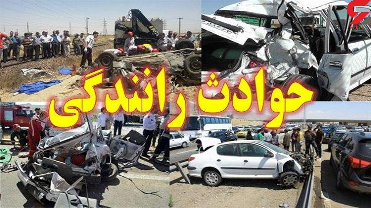 یک کشته و 2 مصدوم در تصادف پژو با وانت پیکان / در کازرون رخ داد